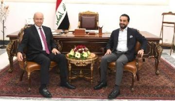 صالح والحلبوسي  يؤكدان على أهمية تعزيز علاقات العراق مع العالم